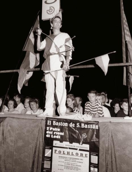 La gara degli arcieri in piazza,1987